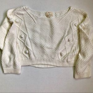 Urban Outfitters SZ S Cropped Cable Knit Sweater